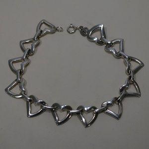 Sterling Silver (.925) Heart Design Bracelet